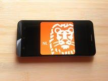 ING Bank app stock afbeelding