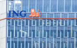 ING bank headquarter Royalty Free Stock Photography