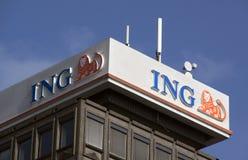ING-bank i Amsterdam Arkivbild