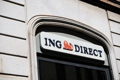 ING Direct bank branch in Rome, Italy royalty free stock photos