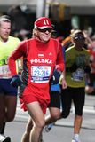 ING New York City Marathon, Old Man from Poland Royalty Free Stock Photography
