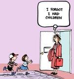 Inga barn royaltyfri illustrationer