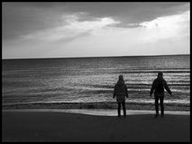 Inga gamala män, men havet arkivbild