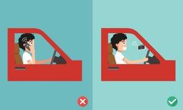 Inga mobiltelefoner - medan köra Royaltyfri Foto