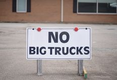 Inga stora lastbilar Royaltyfria Foton