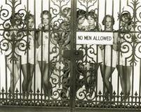 Inga tillåtna män Royaltyfria Foton