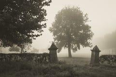 Ingang aan begraafplaats Royalty-vrije Stock Fotografie