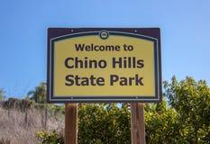 Ingang aan Chino-het Park van de Heuvelsstaat stock afbeeldingen