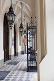 Ingang aan Universiteit Jagiellonian in Krakau. Polen. Royalty-vrije Stock Afbeelding