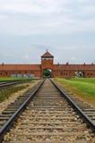 Ingang aan concentratiekamp Royalty-vrije Stock Afbeeldingen