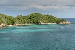 Ingang aan de baai Santa Cruz Huatulco Mexico stock foto