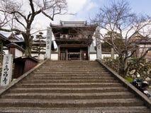 Ingang aan de Boeddhistische tempel van Koshoji in Uchiko, Japan stock afbeeldingen