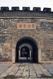 Ingang aan de Confuciaanse tempel in Qufu royalty-vrije stock foto's