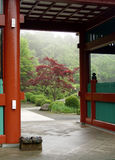 Ingang aan de Japanse tuin in Tokyo stock foto's
