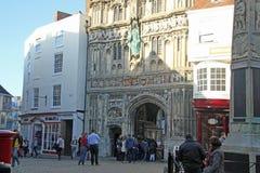 Ingang aan de Kathedraal van Canterbury Royalty-vrije Stock Afbeelding