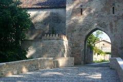 Ingang aan de Middeleeuwen in Cordovado Royalty-vrije Stock Foto's