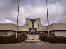 Ingang aan de Militaire Musea, Calgary Royalty-vrije Stock Afbeeldingen