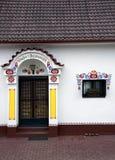 Ingang aan de moravian wijnkelder, Dolni Bojanovice stock foto's