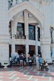 Ingang aan de moskee van Kul Sharif, Kazan, Rusland Stock Afbeeldingen