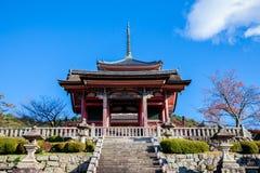 Ingang aan de oude tempel Kyoto, Japan stock fotografie