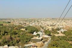 Ingang aan de stad van kalar kahar in Punjab royalty-vrije stock foto's