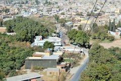 Ingang aan de stad van kalar kahar in Punjab stock afbeeldingen