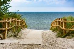 Ingang aan de stranden royalty-vrije stock fotografie