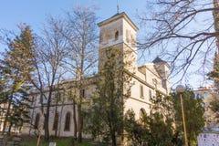 Ingang aan de tempel van de Vergine Santa in Bulgaarse Burgas Royalty-vrije Stock Afbeelding