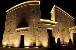 Ingang aan de tempel van ISIS op Eiland Philae Royalty-vrije Stock Fotografie