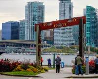 Ingang aan de Totempalen in Stanley Park, Vancouver, BC Royalty-vrije Stock Fotografie