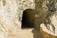 Ingang aan de tunnel Royalty-vrije Stock Fotografie