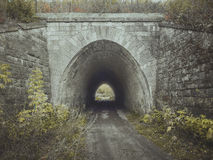 Ingang aan de tunnel Brug Royalty-vrije Stock Foto