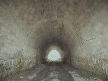 Ingang aan de tunnel Brug stock afbeelding