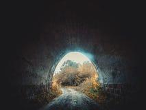 Ingang aan de tunnel Brug stock foto