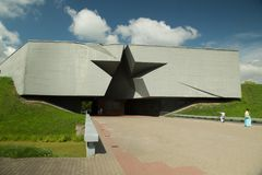 Ingang aan de vesting van Brest, Wit-Rusland Stock Foto