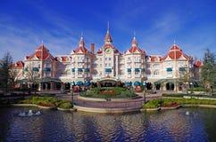 Ingang aan Disneyland Parijs Stock Afbeelding