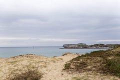 Ingang aan een haven op de kust Royalty-vrije Stock Foto