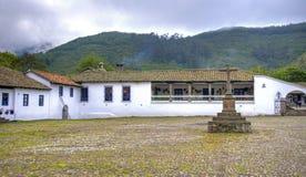 Ingang aan een oude hacienda Royalty-vrije Stock Foto's