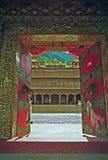Ingang aan een tibetan gompa Royalty-vrije Stock Afbeeldingen