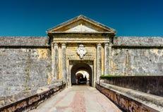 Ingang aan Fort San Felipe del Morro in Puerto Rico stock afbeelding