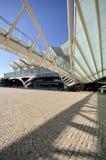 Ingang aan Gare do Oriente, Lissabon Royalty-vrije Stock Afbeeldingen