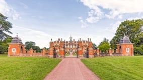 Ingang aan Hanbury-Zaal, Worcestershire, Engeland stock afbeeldingen