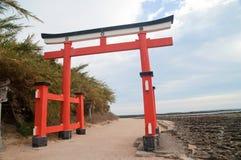 Ingang aan Heiligdom Aoshima Royalty-vrije Stock Afbeelding