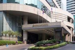Ingang aan het Intercontinentale hotel, Ploenchit stock fotografie
