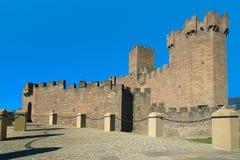 Ingang aan het Kasteel van Javier, (Spanje) Stock Afbeelding