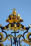 Ingang aan het kasteel van Praag Royalty-vrije Stock Foto
