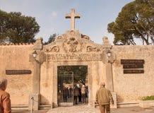Ingang aan het klooster Cura Royalty-vrije Stock Foto's
