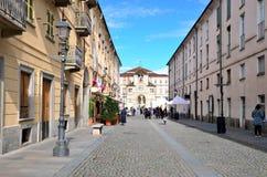 Ingang aan het koninklijke paleis van Venaria Stock Foto's