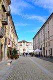 Ingang aan het koninklijke paleis van Venaria Royalty-vrije Stock Foto's