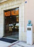 Ingang aan het museum Faller, gewijd aan het brandfestival in Valencia Stock Foto